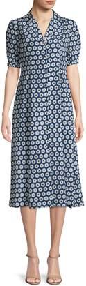 Diane von Furstenberg Floral Print Lily Dress