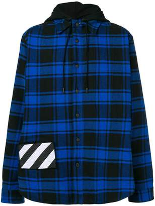 Off-White check hooded sweatshirt