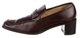 Gucci Vintage Square-Toe Loafers