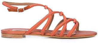 Tabitha Simmons strappy flat sandals