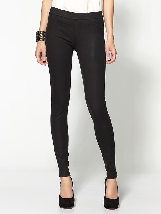 Grease Ponte Leather Look Legging