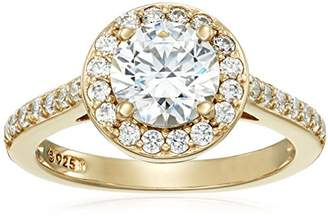 Swarovski Yellow Gold Plated Sterling Silver Color Made with Crystal Ring