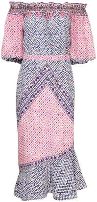 Saloni paisley print dress