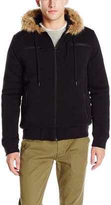 Southpole Men's Fleece Padding Jacket with Utility Details