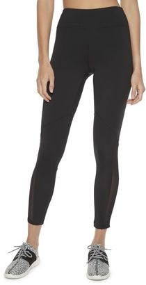 Madden NYC Juniors' Mesh Inset Black Leggings $36 thestylecure.com