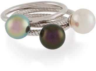 Majorica Multicolor Pearl Rings, 8mm, Size 7