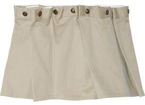 Y/Project Y Project Button-Embellished Pleated Cotton-Twill Mini Skirt