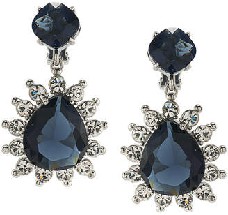 Carolee Clipped To Perfection Pear Shape Double Drop Clip Earrings