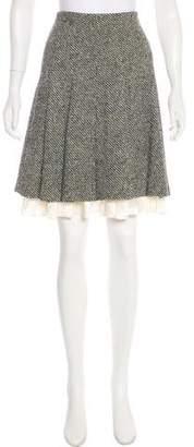 Strenesse Wool Flare Skirt
