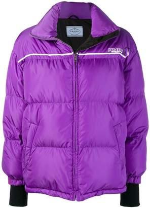 Prada wrap-front padded jacket