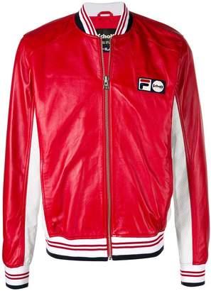 Fila x Schott NYC Pier bomber jacket
