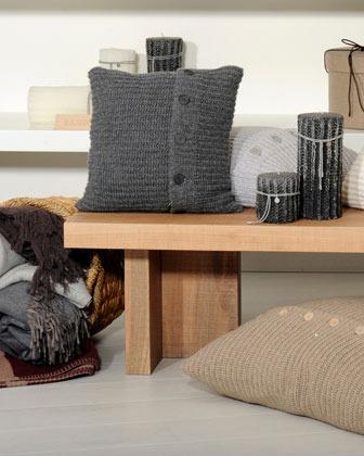 Brunello Cucinelli Medium Shaker-Stitch Pillow