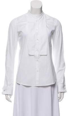 Miu Miu French Cuff Button-Up Top