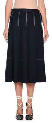 Marni A-Line Mid-Calf Cotton Woven Skirt