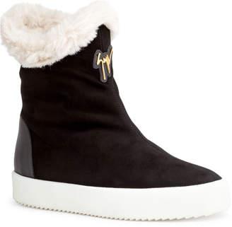Giuseppe Zanotti Black suede shearling boots