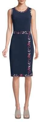 MICHAEL Michael Kors Faux Wrap Border Sheath Dress