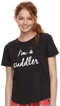 So Juniors' SO Graphic Crewneck Pajama Tee