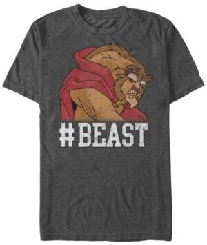 Disney Princess Disney Men's Beauty The Beast Beast Game Face Short Sleeve T-Shirt