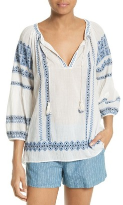Women's Joie Gauge Embroidered Peasant Top $278 thestylecure.com