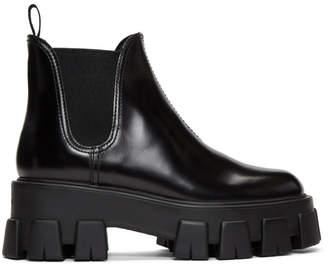 Prada Black Platform Chelsea Boots