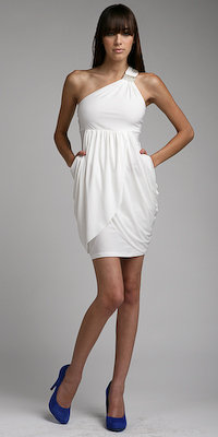 One Shoulder Grecian Cocktail Dresses from Kitty