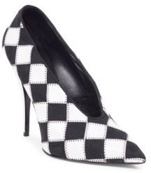 Stella McCartney Checkered Point Toe Pumps