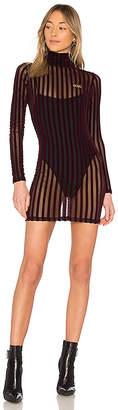 GCDS Velvet Stripe Dress