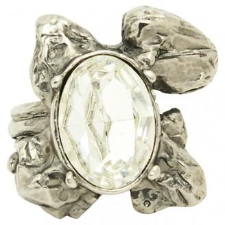 Saint Laurent Silver Metal Ring