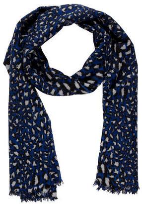 Diane von Furstenberg Leopard Print Scarf $75 thestylecure.com