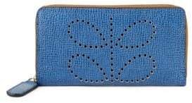 Orla Kiely Textured Leather Continental Wallet