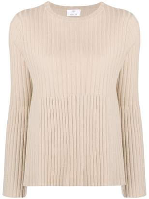 Allude ribbed knit top