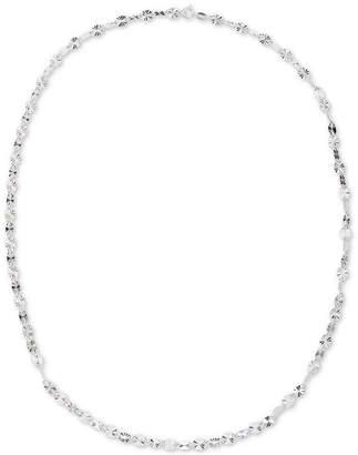 "Giani Bernini Twist Disc 24"" Chain Necklace in Sterling Silver"