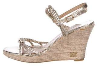 MICHAEL Michael Kors Braided Metallic Wedges