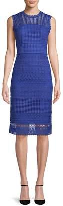 ABS by Allen Schwartz Women's Embroidered Lace Sheath Dress