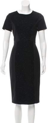 Black Halo Embellished Short Sleeve Knee-Length Dress w/ Tags
