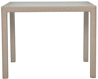 Janus et Cie Glass-Top Square Dining Table - Ivory