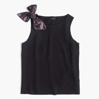 J.Crew Drapey tank with shoulder bow