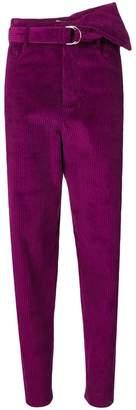 IRO high-waisted textured trousers