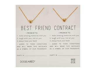 Gold best friend necklaces shopstyle dogeared best friend contract set of 2 heart bead necklaces thecheapjerseys Choice Image