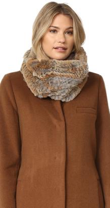 Adrienne Landau Knit Goma Fur Cowl Scarf $195 thestylecure.com
