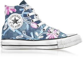 Converse Limited Edition Chuck Taylor All Star High Vintage Denim Flowers Sneakers