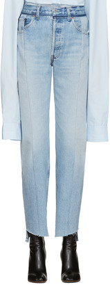 Vetements Blue Reworked Jeans $1,460 thestylecure.com