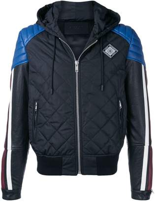 Givenchy colour block hooded jacket