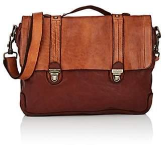 Campomaggi Men's Convertible Leather Briefcase - Brown
