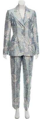 Bill Blass Patterned Three-Piece Pantsuit
