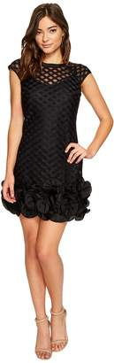 Jessica Simpson S/S Lace Dress w/ Ruffle Hem Women's Dress