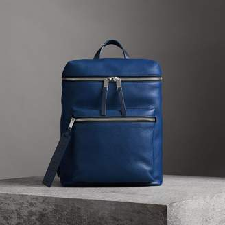 Burberry Zip-top Leather Backpack
