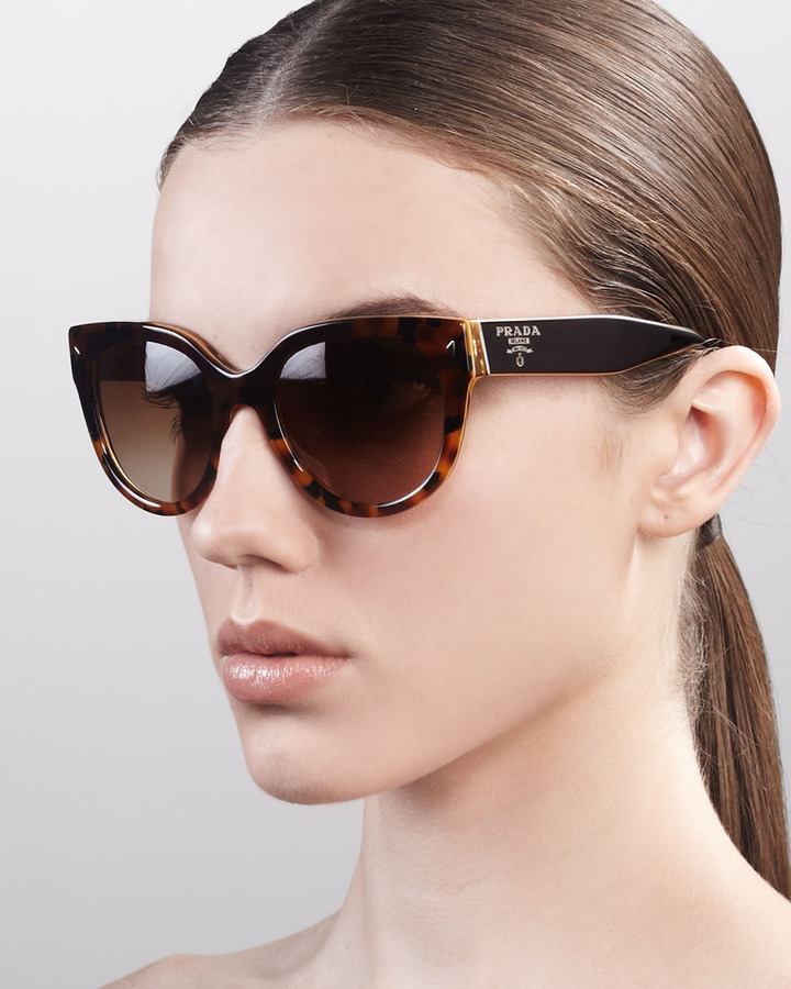 Prada Heritage Cat-Eye Sunglasses, Yellow