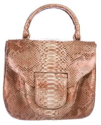 Nancy Gonzalez Python Top Handle Flap Bag