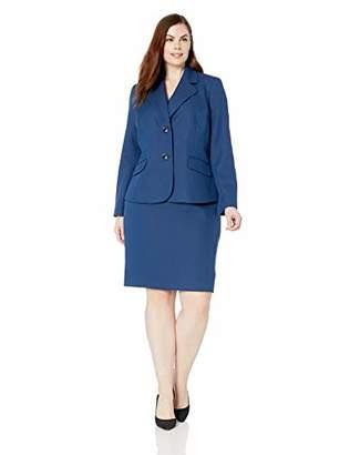 Le Suit Women's Size Plus 2 Button Notch Collar Novelty Skirt Suit